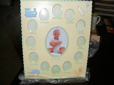 "Baby's First Year Monthly Ceramic Photo Frame 12""h X 10"" W(New In Pkg)"