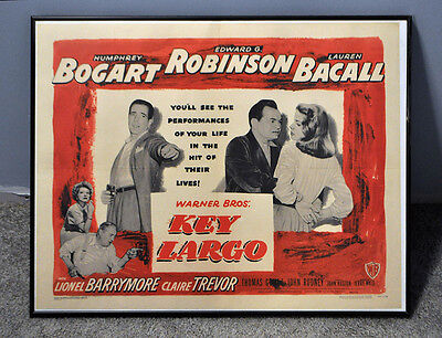 """Key Largo, 1948. Half Sheet Poster (22"""" X 28""""). Style A. Bogey & Bacall"""