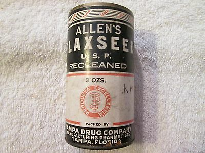 Antique Advertising Allen's Flax Seed Tampa Drug Company Pharmacists Drug Store