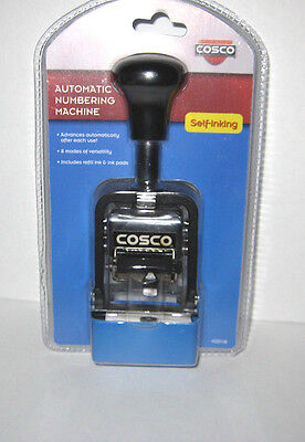 COSCO Stamp Self-inking Automatic Numbering Machine 026138 Self Advancing