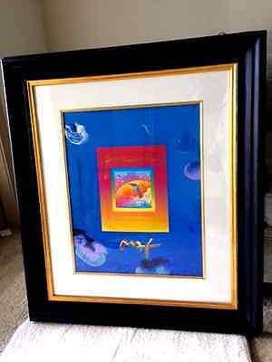 Peter Max Angel with Clouds on Blend
