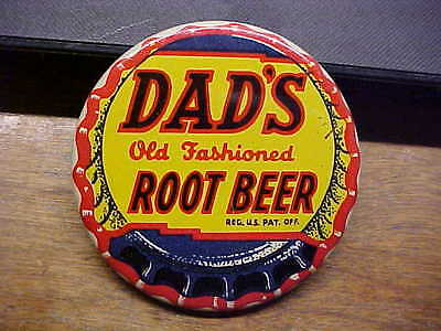 DADS OLD FASHIONED ROOT BEER Bottle Cap L J Imber Advertising Pocket Mirror