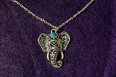 Beautiful Collectible Silver Colored Elephant Necklace