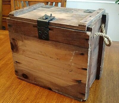 Vintage JACK DANIELS Wood Box Large Whiskey Crate Wooden Advertising Chest