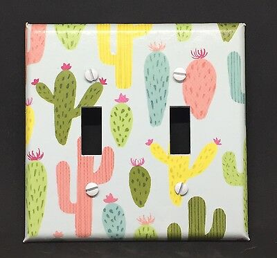 Cactus Light Switch Cover Plates Outlets Southwest Room Decor Desert Colorful