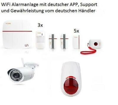 wifi gsm alarmanlage wifis2w sicherheitssystem smart home. Black Bedroom Furniture Sets. Home Design Ideas