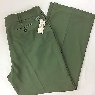 Women's Dress Barn Green Dress Pants Size 14 New With Tag