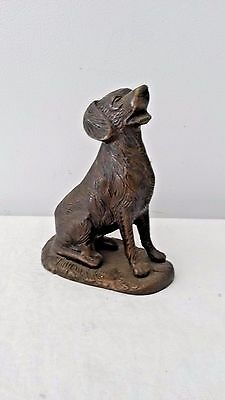 Vintage Metal Dog Figurine Statue Retriever