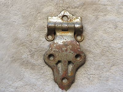 Antique old ice box freezer refrigerator brass hinge hardware PART