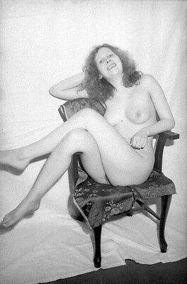 6 NEGATIVES GLAMOUR RISQUE BUSTY FULLY NUDE AMATEUR MODEL 1960s