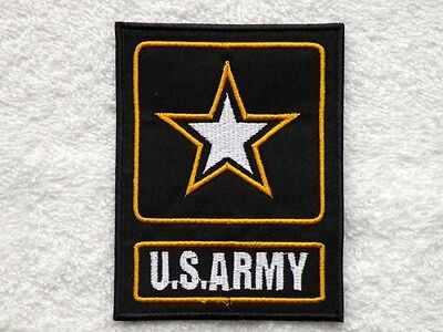 """ONE ( 1 ) U.S. ARMY BLACK / WHITE / GOLD PATCH ~ 3"""" x 3 7/8"""" ~ FREE SHIPPING"""