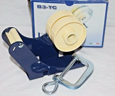 "Tach-It B3-TC 2"" Multi-Roll Tape Dispenser with Mounting C-Clamp New In Box"