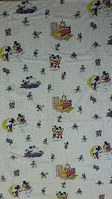 Disney Bettwäsche bedding Mickey Maus vintage Minnie 80s 90s Mond