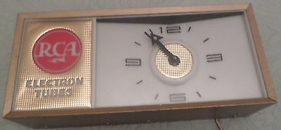 Vintage RCA light up counter advertising Clock works