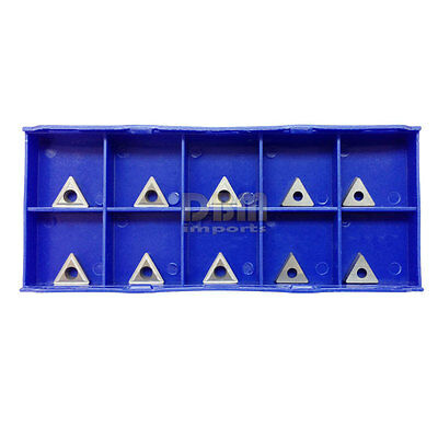"""10 Piece PC 1/4"""" C6 Carbide Inserts for Indexable Turning Tool Holder Lathe"""