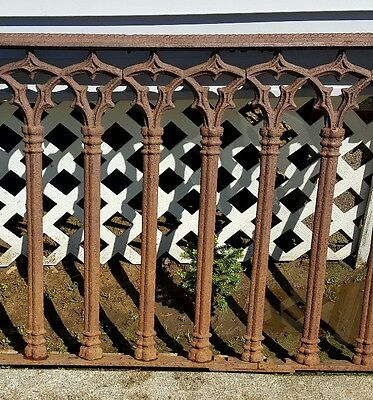 "1880's Gothic Iron Rhode Island Estate Antique Fence 60"" X 33"""