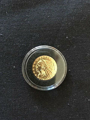 1908 not 1910 $2.5 GOLD INDIAN HEAD QUARTER EAGLE - 1 LEFT COIN AU NOT CLEANED