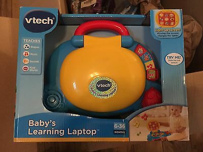 VTech Baby's Learning Laptop Blue NEW DEVELOPMENT AID