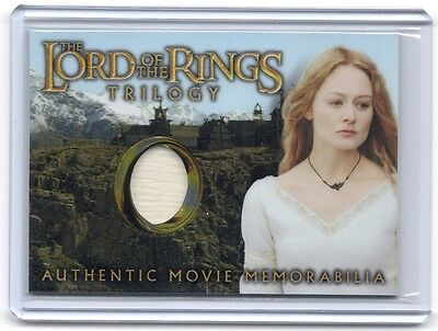 LOTR Lord Of The Rings Trilogy Chrome Eowyn Golden Hall Dress costume card  #7