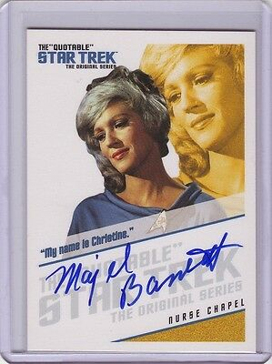 Star Trek TOS Quotable Majel Barret ( Nurse Chapel ) autograph auto card #QA6