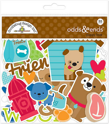 Doodlebug Design Puppy Love Pet Dog Odds & Ends Cardstock Die Cuts