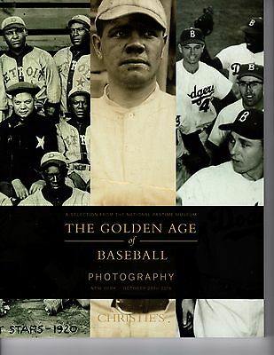 Christie's The Golden Age of Baseball Photography 2016 Auction Catalog - Rare