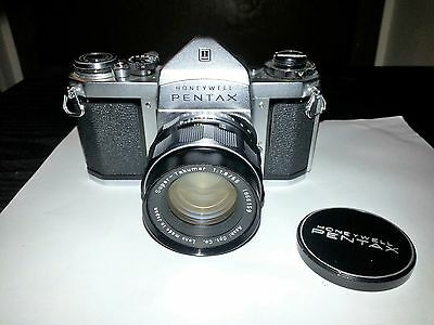 Vintage Honeywell Pentax 35mm Camera In Case