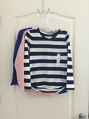 Old Navy Girls Long Sleeve Tops Lot of 3 Size 10-12 Large NWT