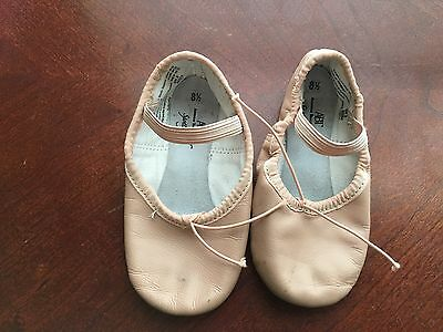 ABT American Ballet Theater Dance Shoes Slippers Pink Leather Toddler Girl 8.5