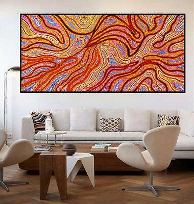 Huge Aboriginal style painting by Anna Narnina, 200cm by 100cm G009