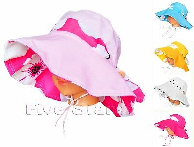 new girls sun hat toddler kid girl cotton summer floppy cap size 2-6 years