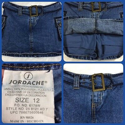 Girls Jordache Size 12 Denim Skort short/skirt