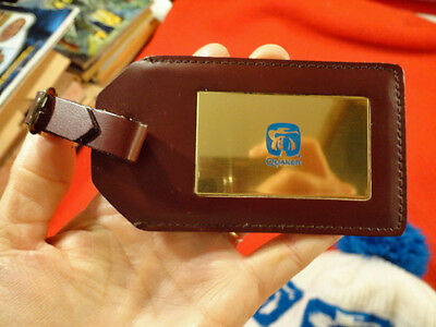 Vintage New Old Stock Quaker Oats Luggage Tag Leather No Reserve