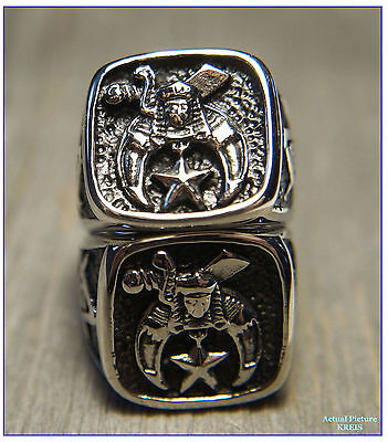 Tungsten Steel Freemasonic Shriners Int'l Emblem Ring - Size 11
