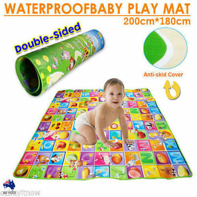 Large Double-Sided Baby Play Mat Portable Outside Picnic Carpet Waterproof AU