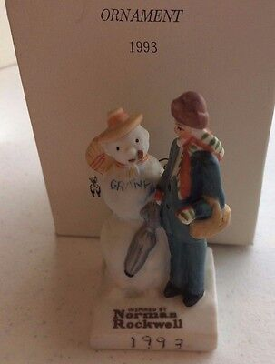 "Norman Rockwell Christmas Ornament 1993 ""Gramps"" Dave Grossman NRX-93"