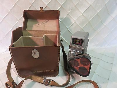 Bell Howell Electric Eye 8mm Move Camera with carry case and rotating lens