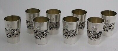 Arthur & Bond Yokohama Japanese Sterling Silver Beakers Cups