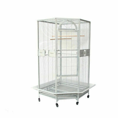 Flyline Corner Bird Cage for Cockatiel Parakeet Budgies Parrot Black or White