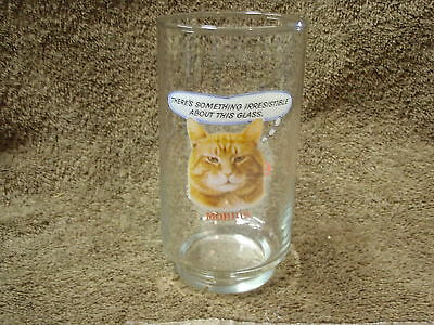 Vintage Morris The Cat 9-Lives Something Irresistible Glass