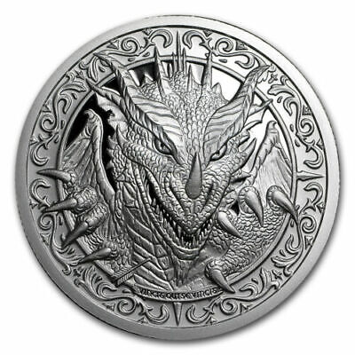 The Destiny Coin 2 - The Dragon - 2 oz .999 Silver BU Round - IN-STOCK!!