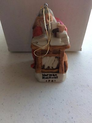 "Norman Rockwell Christmas Ornament 1981 ""Letters to Santa"" Dave Grossman"