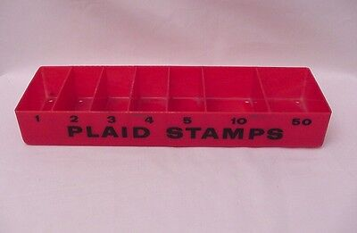 Rare Vintage A&P Supermarket Grocery Store MacDonald PLAID STAMPS Tray