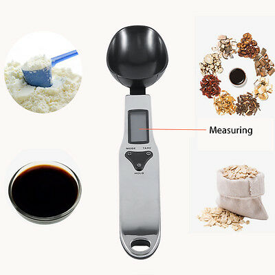 Electronic LCD Kitchen Spoon Digital Scale Gram Food Weighing Measuring Tool TM