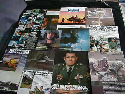 HUGE lot of 85 recruiting magazine print ads 1973-1998 army navy marines ad NICE