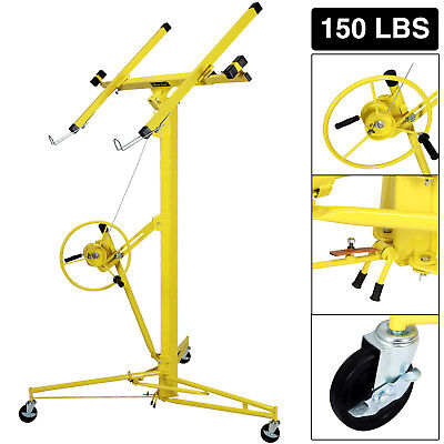 16-19' Drywall Panel Lifter Hoist Jack Rolling Caster Lockable DIY Tool New
