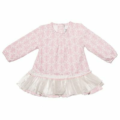 Bebe By Minihaha Baby Girls Long Sleeve Dress - Pink Size 0