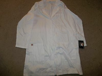 DICKIES White Medical Lab Coat Size S Polyester Cotton NEW