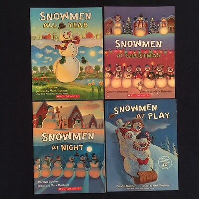 Lot of 4 Children's Picture Books Caralyn Buehner: Snowmen All Year Christmas &