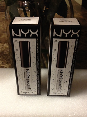 NEW NYX COSMETICS (TWO) Proof It Eyeshadow Primer Colorless PIES01 (2 boxes)